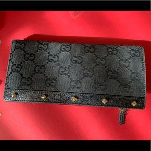 Gucci studded wallet